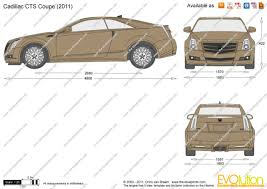 cadillac cts dimensions the blueprints com vector drawing cadillac cts coupe