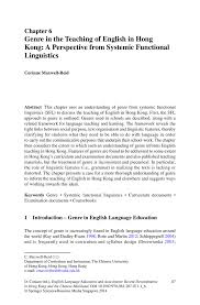 genre in the teaching of english in hong kong a perspective from