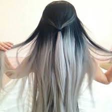 black grey hair 11 best black roots grey hair images on pinterest colourful hair