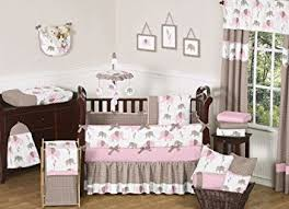 Brown And Pink Crib Bedding Sweet Jojo Designs 9 Modern Pink And Brown Mod