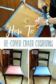 Recover Chair How To Easily Re Cover A Chair Cushion Fabrics Easy And Craft