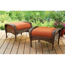 All Weather Wicker Better Homes And Gardens Azalea Ridge Ottomans Set Of 2 Walmart Com