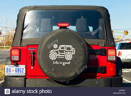 jeep life tire cover life is good spare tire cover on jeep usa stock photo 75322768