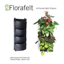 florafelt 4 pocket vertical garden planter