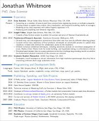 data scientist resume data scientist resume sle exle representation or