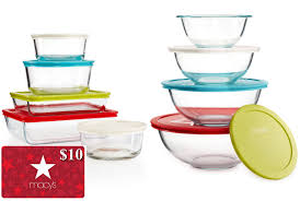 pyrex black friday deals 10 pc pyrex set 8 pc bowl set 10 macys egift card