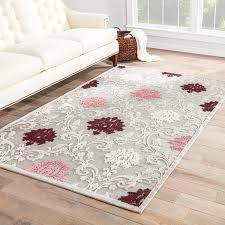 Purple And Grey Area Rugs Versailles Damask Purple Gray Area Rug 76 X 96 Free With Regard To