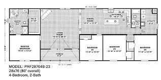 prf28764b bedroom double wide mobile home floor plans kisekae