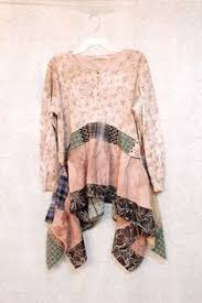 Shabby Chic Plus Size Clothing by Plus Size Upcycled Tunic Lace Shabby Chic Free People Gypsy