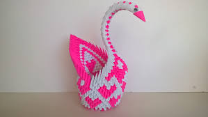 Paper Home Decor 3d Origami Paper Swan Pink Heart Home Decor Paper