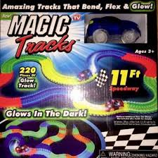 light up car track as seen on tv new magic tracks led light up bend flex glow go red race car as