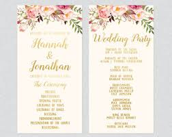 Order Wedding Programs Wedding Templates Etsy Uk