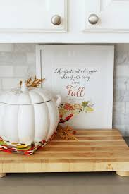Fall Kitchen Decor - fall home decor ideas fall home tours clean and scentsible