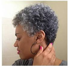 how to wear short natural gray hair for black women natural look twa pinterest natural gray hair and hair style