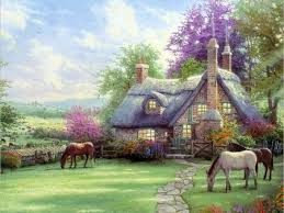 143 best kinkade images on kinkade desktop
