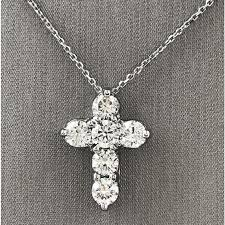 cross necklace fine jewelry images Diamond cross pendant with chain necklaces fine jewelry jpg