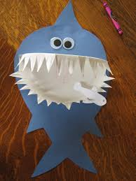 paper plate crafts for kids a z shark craft shark and paper