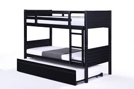 Black Bunk Beds Jupiter Black Single Bunk Beds With Trundle Bed