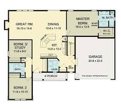 3 bedroom ranch house floor plans ranch house open floor plans open floor plan ranch hwbdo75947