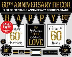 60th anniversary decorations diy 60th anniversary etsy