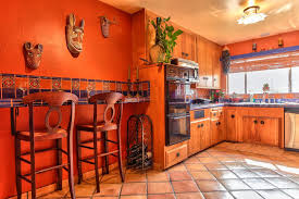 Southwestern Kitchen Cabinets Kitchen With Terracotta Tile Floors L Shaped In Ca