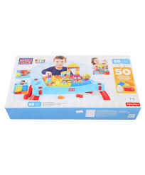 my first mega bloks table mega bloks first builders build n learn table 80 pieces multicolor