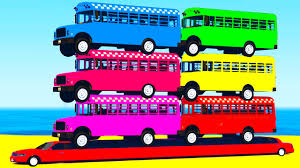 learn colors u0026 bus in cars cartoon for children learn numbers w