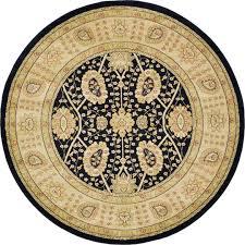 Black Circle Rug Black 6 U0027 X 6 U0027 Kensington Round Rug Area Rugs Esalerugs
