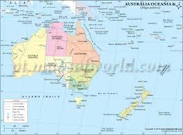 Muito Austrália e Oceania Mapa , Mapa da Austrália e Oceania @BY56