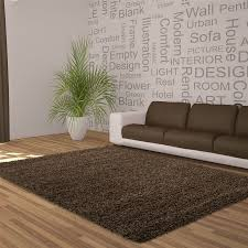 Living Room Grass Rug 5cm Thick Soft Touch Shaggy Shag Pile Rugs Round Runner Circles