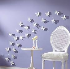decorative crafts for home butterfly wall art 12pcs pack white pvc 3d decorative butterflies