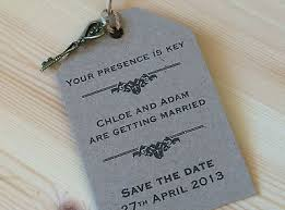 luggage tag save the date wedding save the date presence is key vintage luggage tag