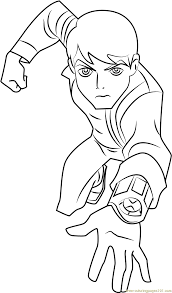 ben 10 omniverse coloring pages rath alien change ben ten coloring