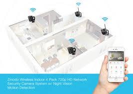 zmodo 1080p 4ch hdmi nvr 2 720p wifi ip audio home security camera