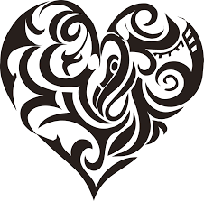 tribal black heart tattoo clip art library