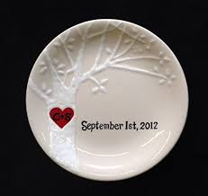 personalized wedding plate gift ring dish engagement gift wedding gift s
