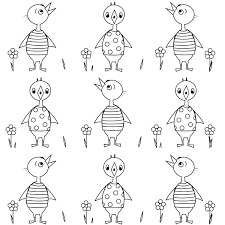 free printable spring coloring page chicken babies malseite