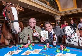 South Point Casino Buffet by South Point Owner Michael Gaughan Hosts Blackjack Game With