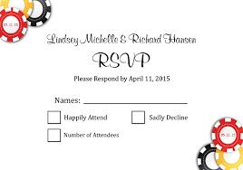 las vegas wedding invitations rsvp poker chips invitations by r2