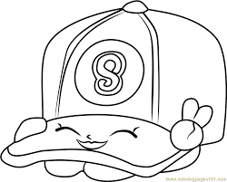 casper cap shopkins coloring free shopkins coloring pages