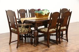 Dining Room Sets 6 Chairs by Sold English Tudor Style 1920 Antique Oak Dining Set 6 Chairs