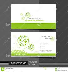 natural modern business card template stock vector image 41961324