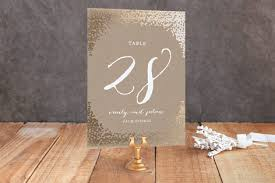 gold wedding table numbers gold rush foil pressed wedding table numbers by annie clark minted