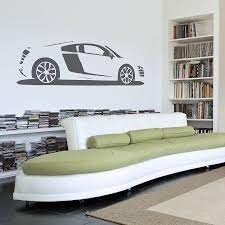 car wall sticker custom wall stickers r8 sports car vinyl wall sticker
