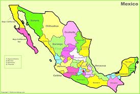 mexico map in spanish inside map of mexic evenakliyat biz