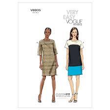 dress pattern john lewis vogue women s dress sewing pattern 8805 at john lewis