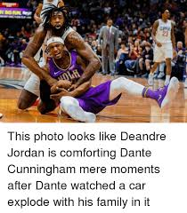 Deandre Jordan Meme - this photo looks like deandre jordan is comforting dante cunningham