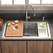 kitchen sink cabinet sponge holder kohler cater accessorized kitchen sink
