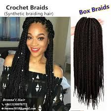 box braids hairstyle human hair or synthtic 2018 wholesale 24inch box expression braid 100g kanekalon