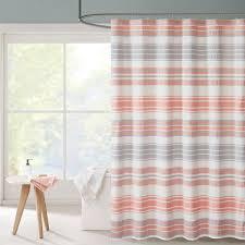 Stripe Shower Curtains Intelligent Design Sonia Puckering Yarn Dyed Stripe Shower